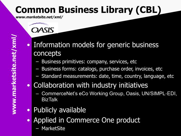 Common Business Library (CBL)