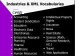 industries xml vocabularies