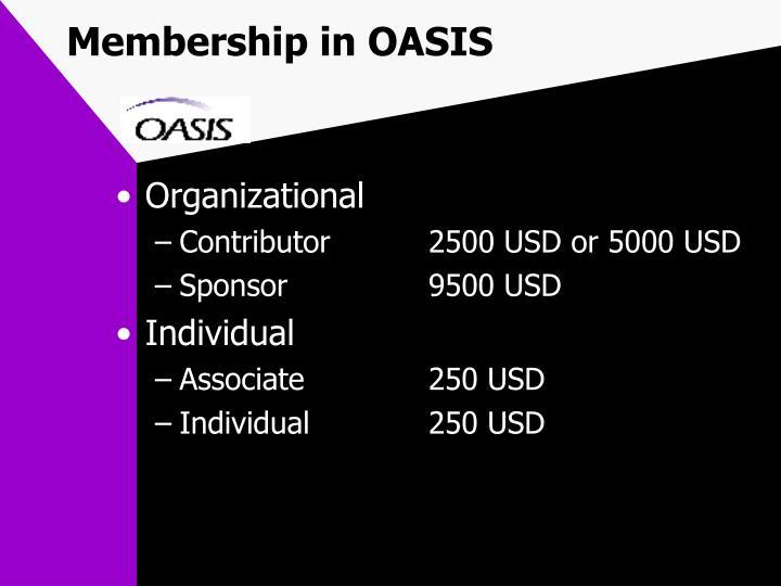 Membership in OASIS