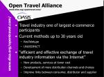 open travel alliance www disa org opentravel com
