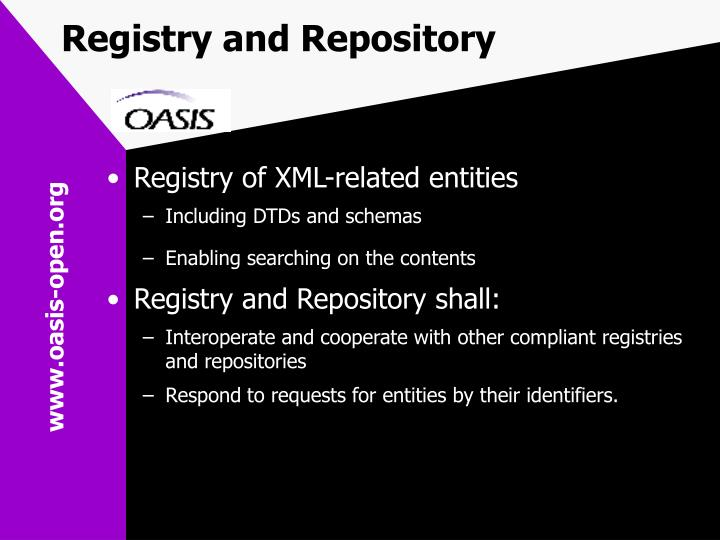 Registry and Repository