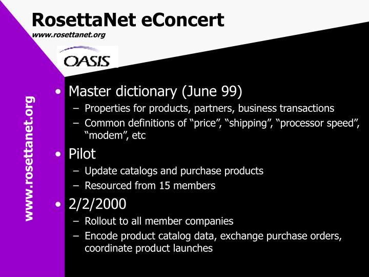 RosettaNet eConcert