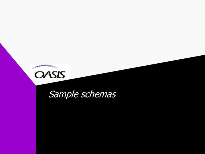 Sample schemas