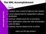 the xml accomplishment