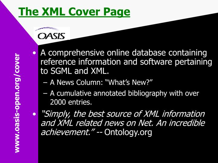 The XML Cover Page
