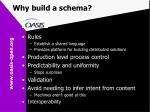 why build a schema