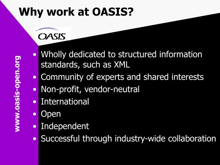 Why work at OASIS?