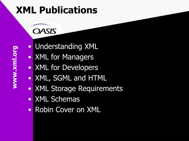 XML Publications