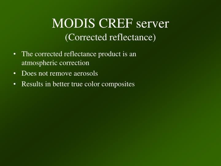MODIS CREF server