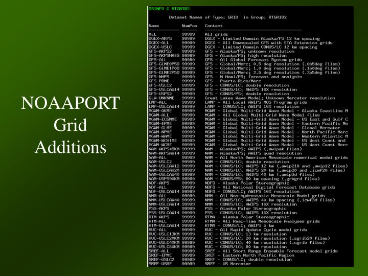 NOAAPORT Grid Additions