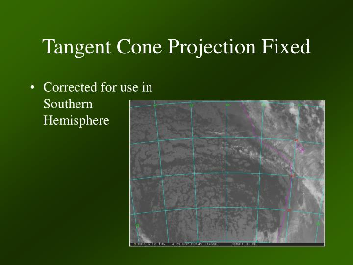 Tangent Cone Projection Fixed