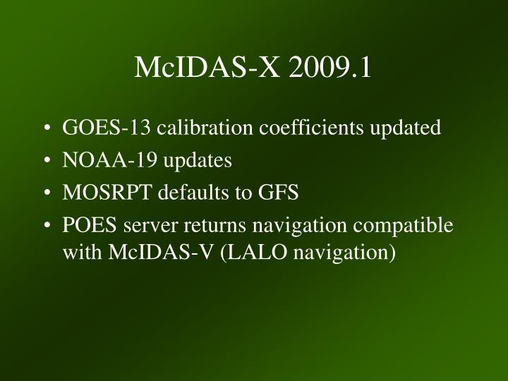 McIDAS-X 2009.1