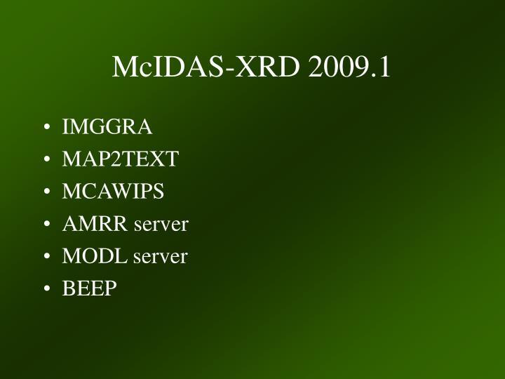 McIDAS-XRD 2009.1
