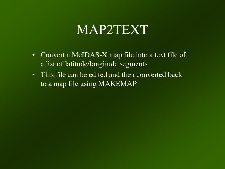 MAP2TEXT