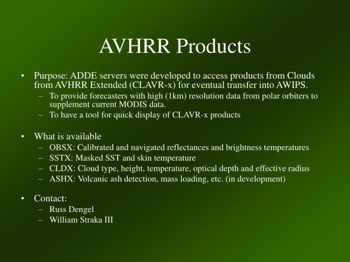 AVHRR Products