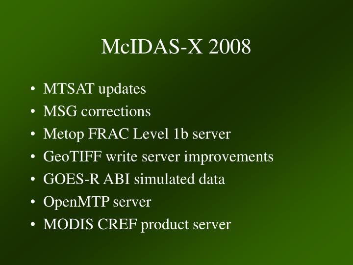 McIDAS-X 2008