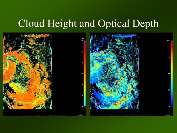 Cloud Height and Optical Depth