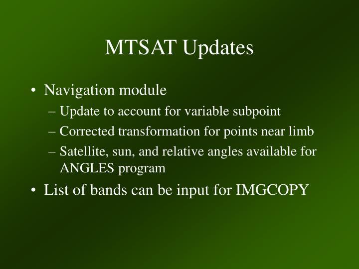 MTSAT Updates