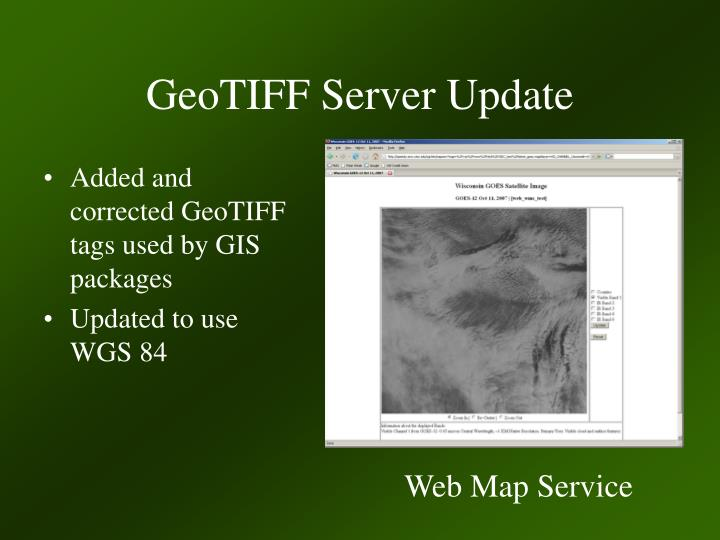 GeoTIFF Server Update