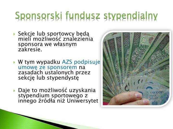 Sponsorski fundusz stypendialny