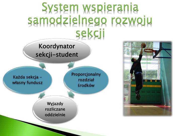 System wspierania samodzielnego rozwoju sekcji