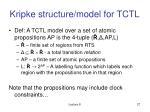 kripke structure model for tctl