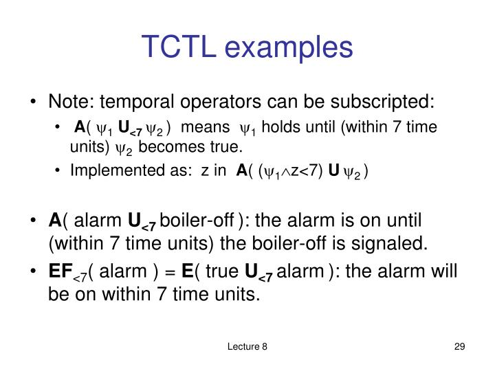 TCTL examples