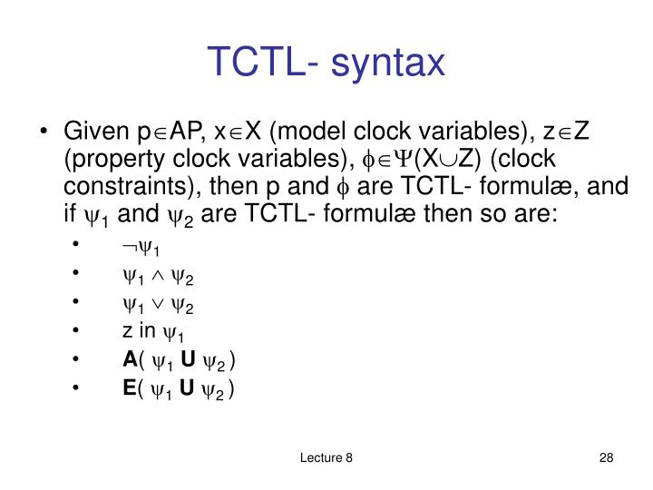 TCTL- syntax