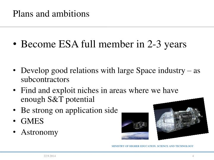 Ppt Slovenia And Space Activities Dr Ale Mihel I