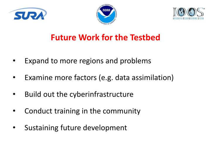 Future Work for the Testbed