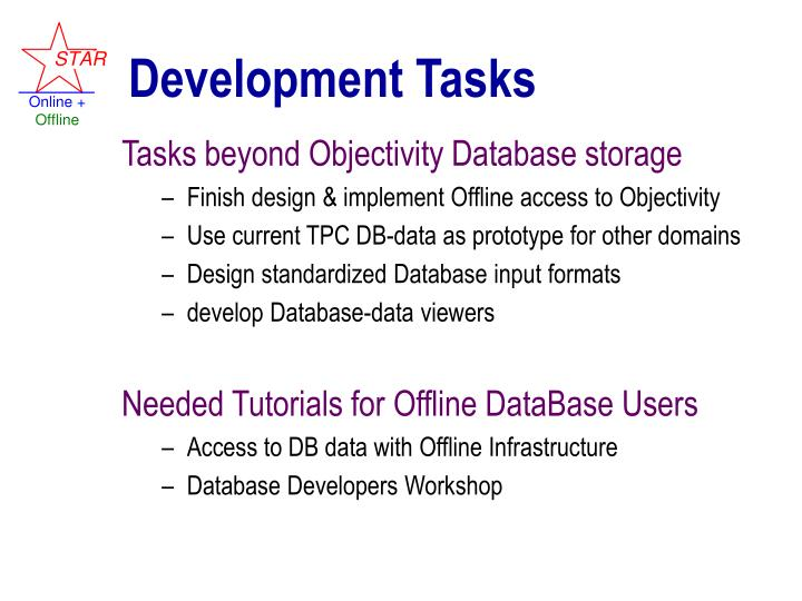 Development Tasks