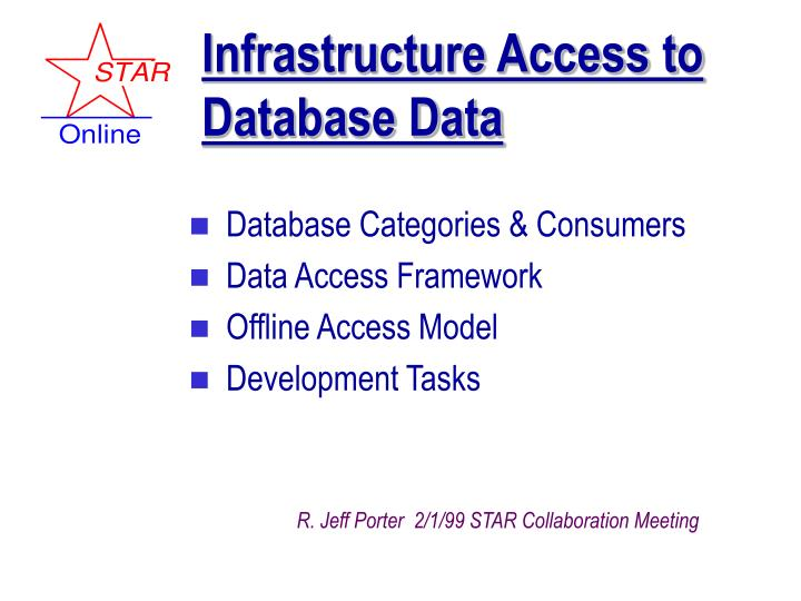 infrastructure access to database data