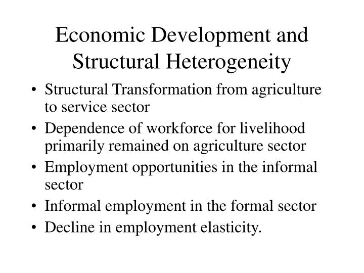 Economic Development and Structural Heterogeneity