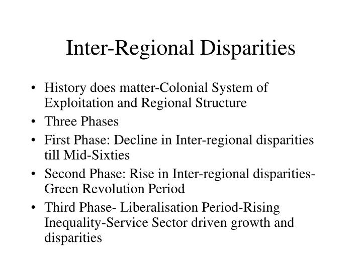 Inter-Regional Disparities