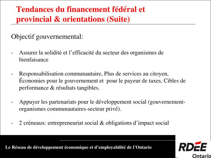 Objectif gouvernemental: