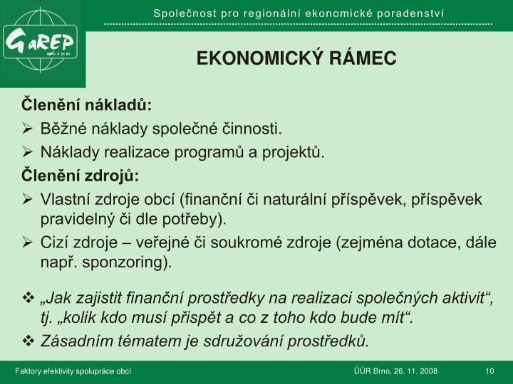 Ekonomický rámec