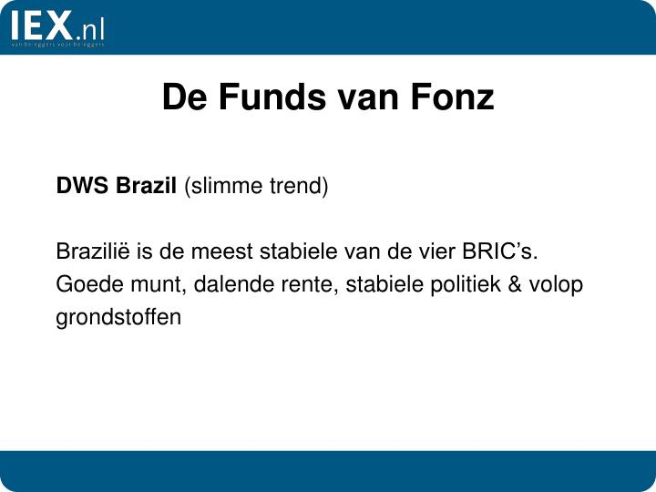 De Funds van Fonz