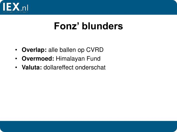 Fonz' blunders