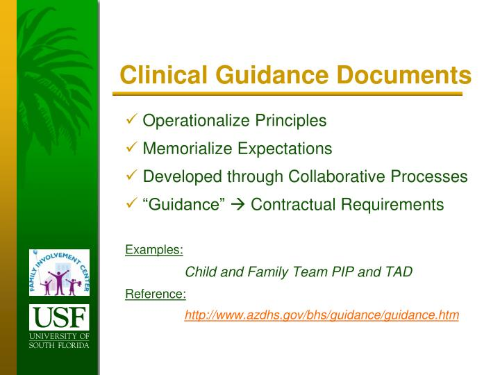 Clinical Guidance Documents