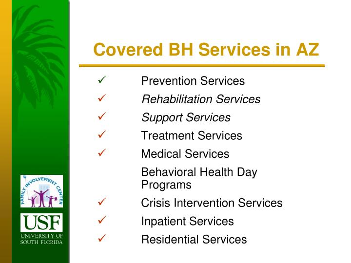 Covered BH Services in AZ
