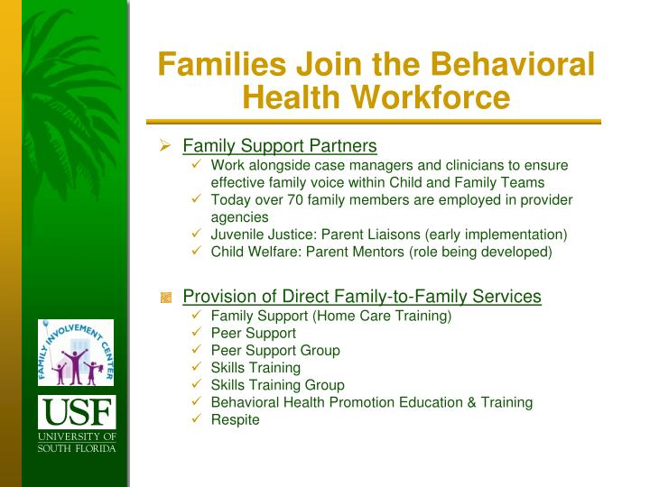 Families Join the Behavioral Health Workforce