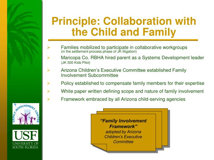 Principle: Collaboration with the Child and Family
