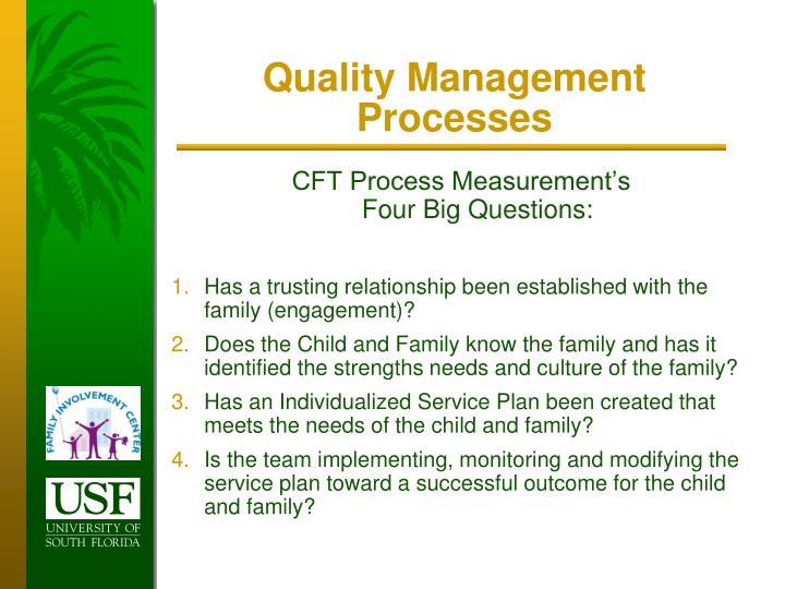 Quality Management Processes