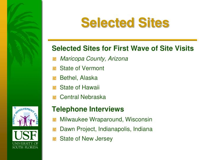 Selected Sites
