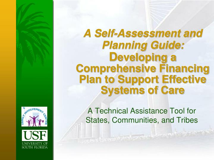 A Self-Assessment and Planning Guide: