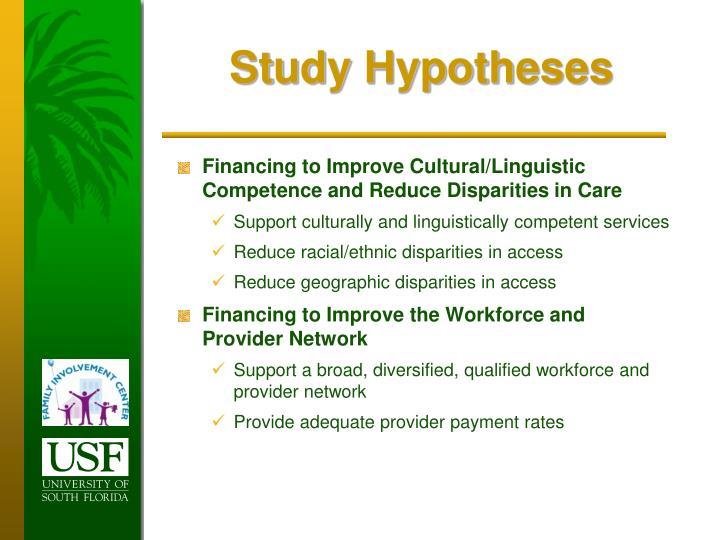Study Hypotheses