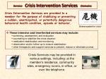 service crisis intervention services domains