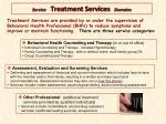service treatment services domains