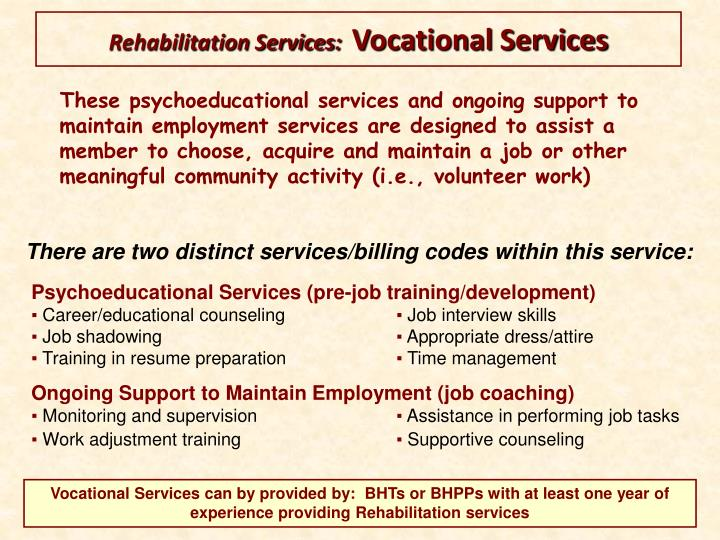 Rehabilitation Services:
