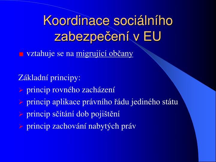 Koordinace sociálního zabezpečení v EU